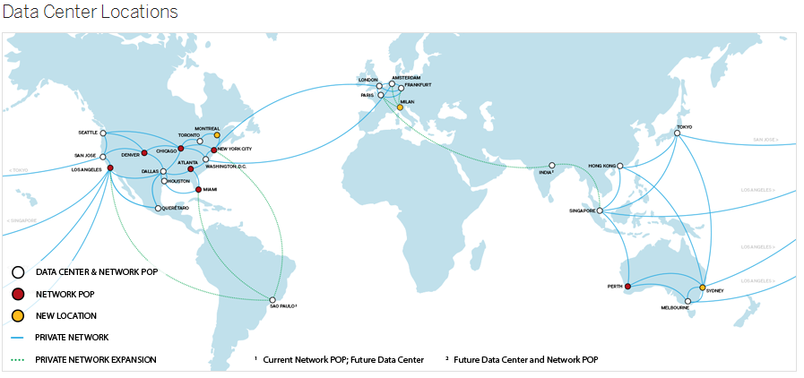 Softlayer Datacenters location